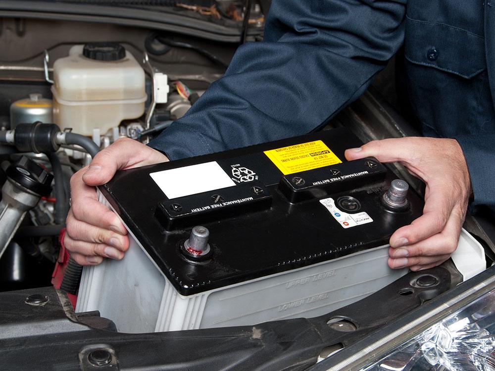 automitive battery installation